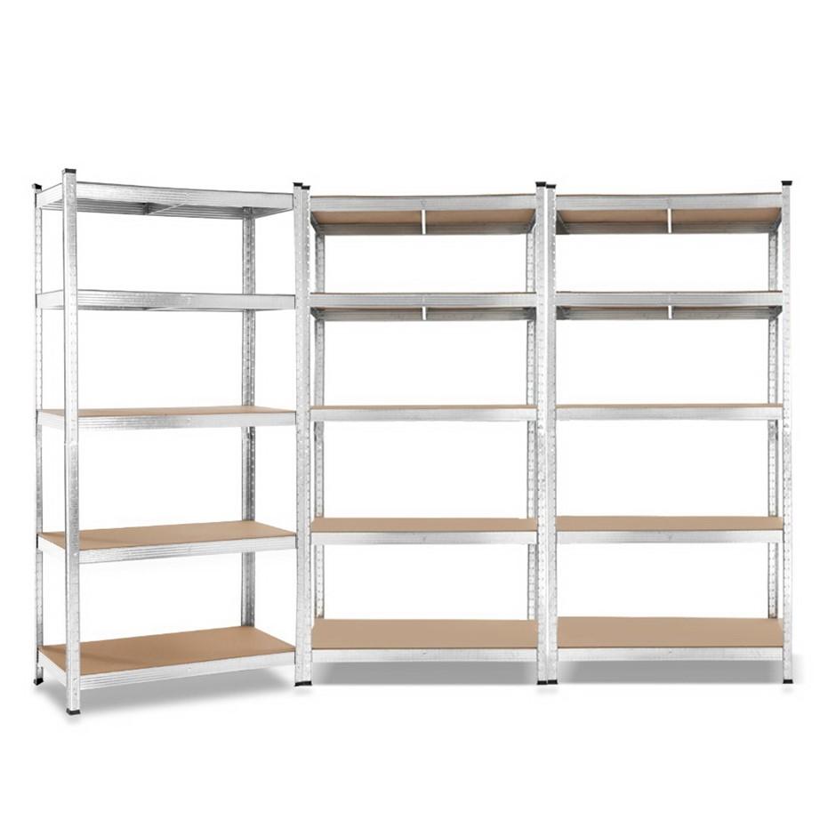 Giantz 3x0.9M Warehouse Shelving Racking Storage Garage Steel Metal Shelves