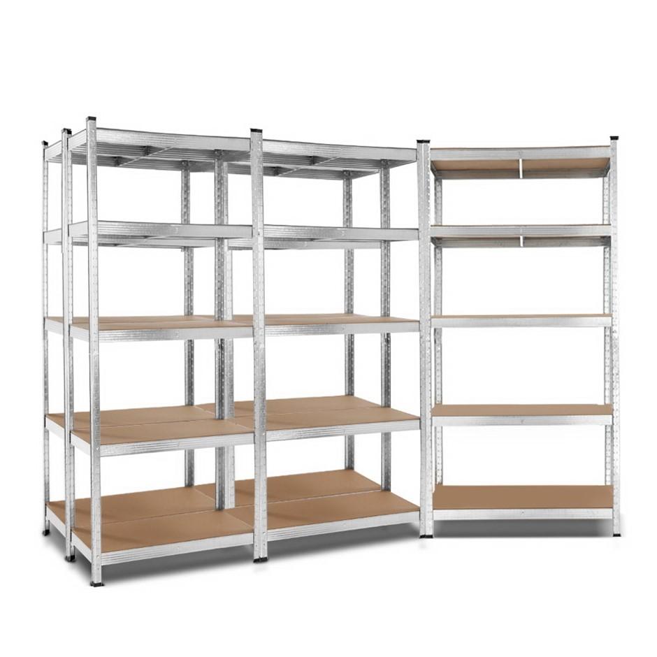 Giantz 5x0.9M Warehouse Shelving Racking Storage Garage Steel Metal Shelves
