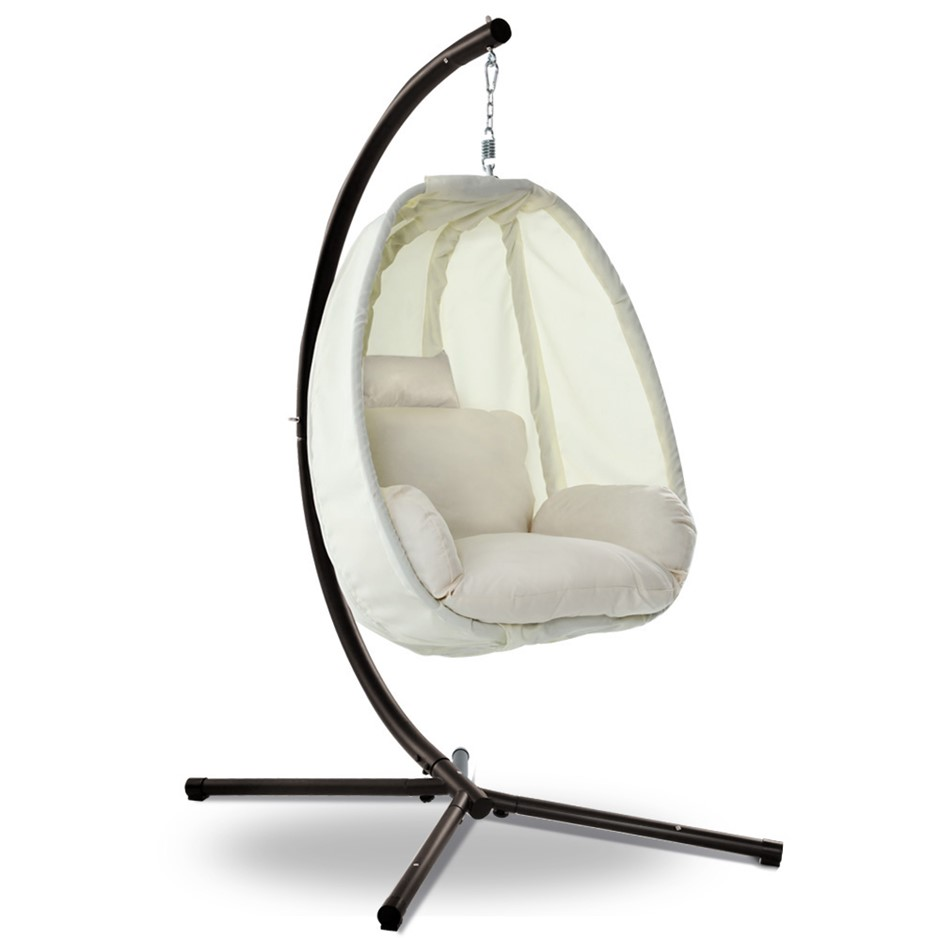 Gardeon Outdoor Furniture Egg Hammock Hanging Pod Swing Chair with Stand