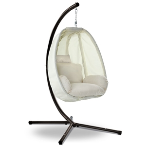 Amazing Gardeon Outdoor Furniture Egg Hammock Hanging Pod Swing Chair With Stand Gmtry Best Dining Table And Chair Ideas Images Gmtryco