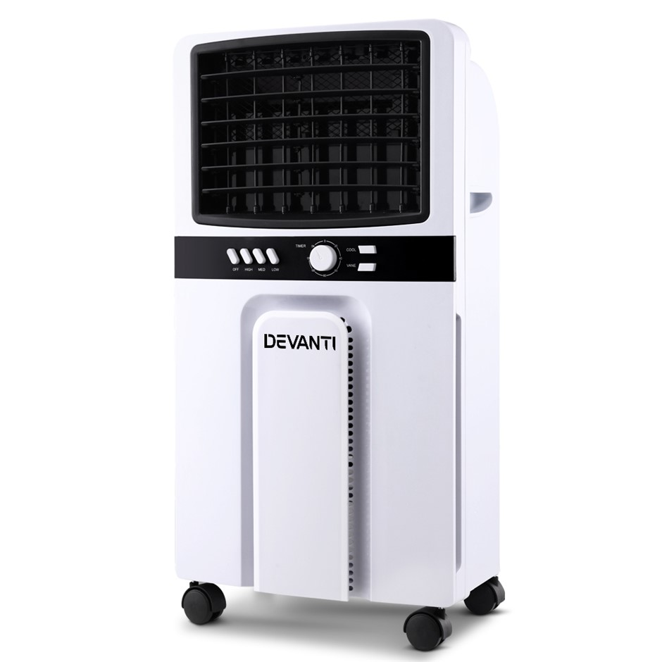 Devanti Portable Evaporative Air Cooler Cooling Fan Humidifier Conditioner
