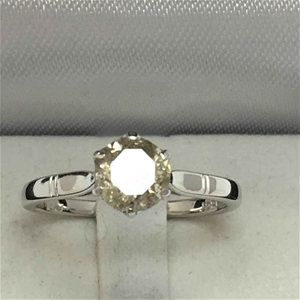 18ct White Gold, 1.06ct Diamond Ring