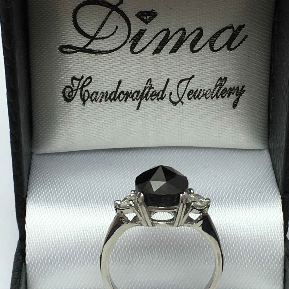 18ct White Gold, 3.20ct Diamond Ring