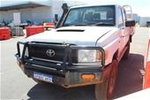 Unreserved 2014 Toyota Wmate 4x4 VDJ79R T/Dsl Man C/Cab