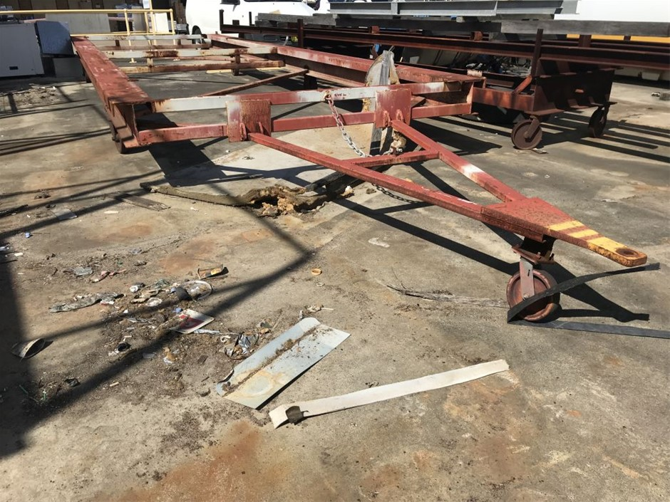 Trailer - Steel Construction on Solid Casters
