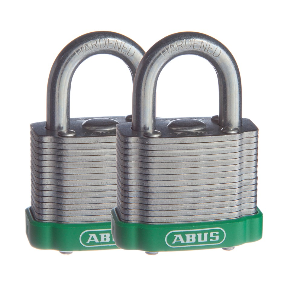 Pack of 4 Locks 2x (2 Pack) ABUS Padlock 41/40 LAM KD DP ECOLUTION - 4140ET