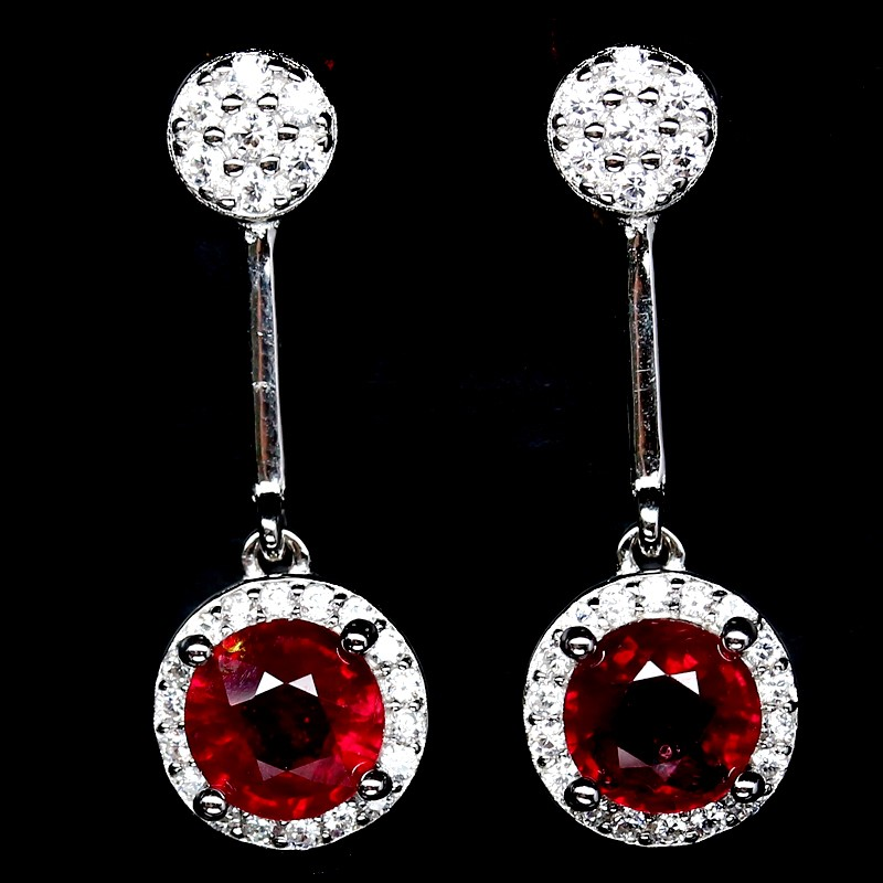 Delightful Genuine Ruby Drop Earrings.