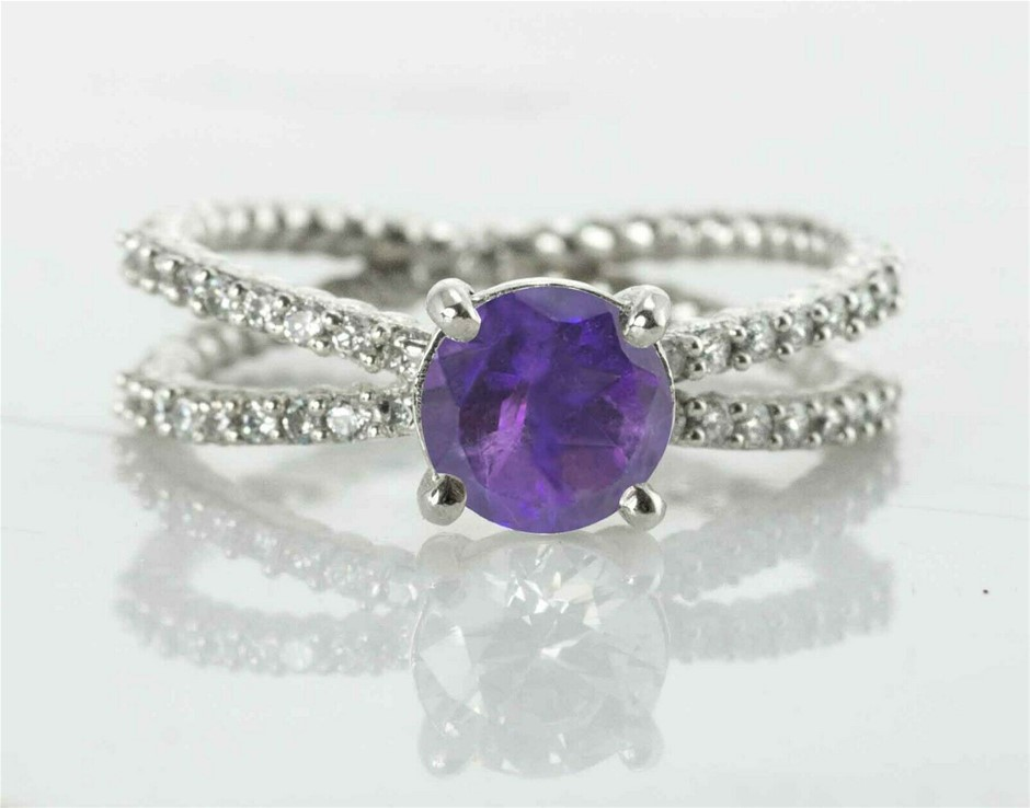 Beautiful Genuine Amethyst Ring