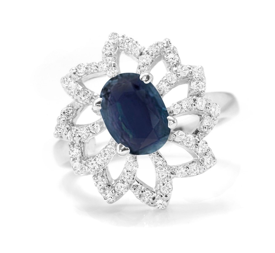 Gorgeous Genuine Midnight Blue Sapphire Ring.