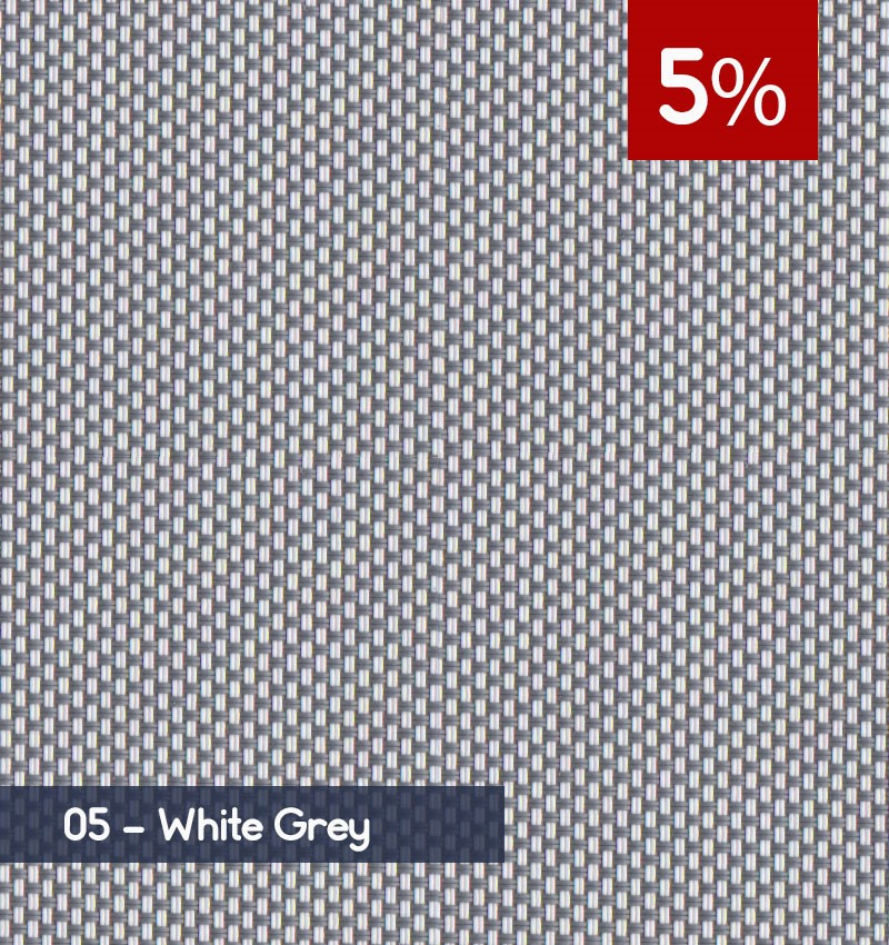 Premium 3m x 30m Roll of Blind - White Grey (5% OPENNESS)
