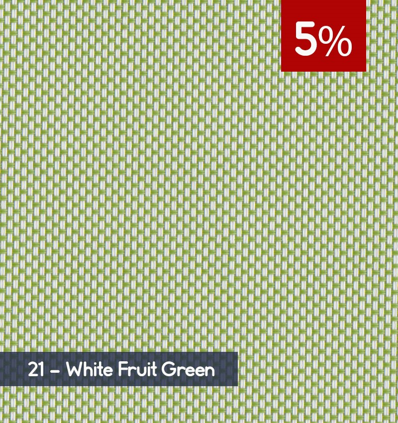 Premium 3m x 30m Roll of Blind - White Fruit Green (5% OPENNESS)