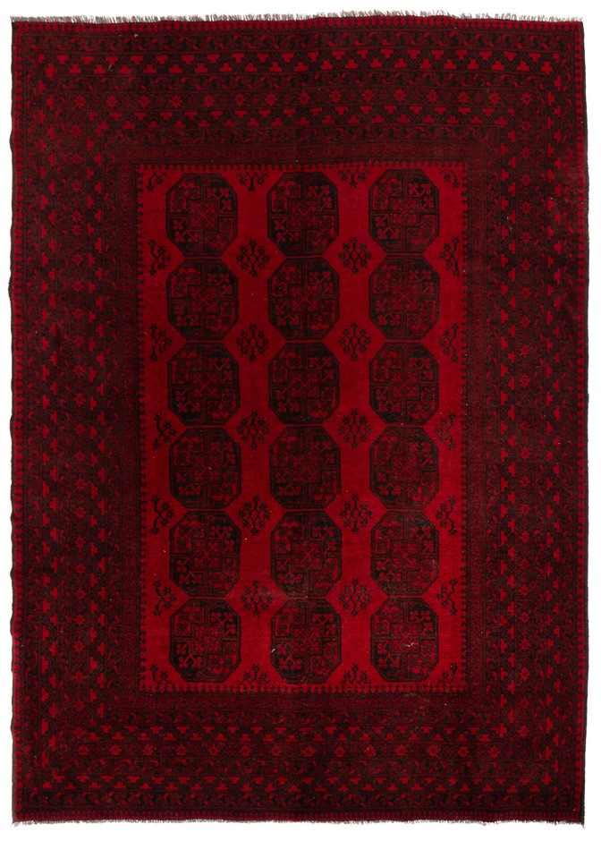 Afghan Tekke Elephant For Design Wool Pile Rug Size (cm): 203 x 287