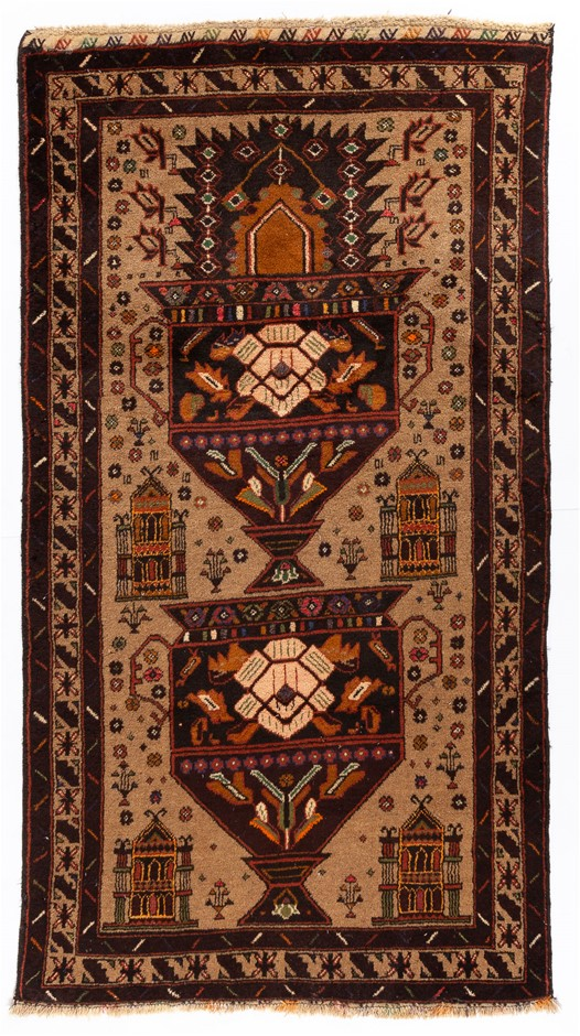 Tribal Baluchi Hand Knotted Rug Size (cm): 110 x 210