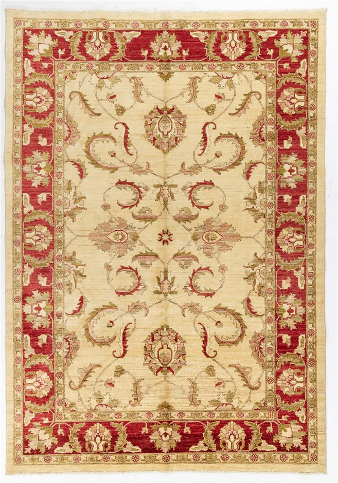 Afghan Choobi Hand Knotted Vegetable Dyed Rug Size (cm): 220 x 316