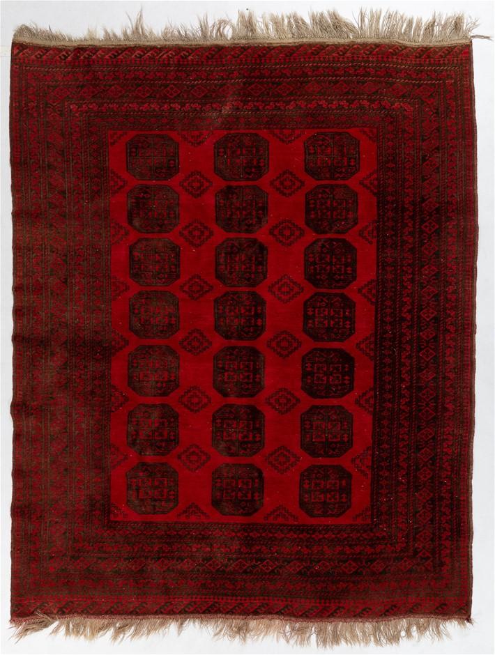 Afghan Tekke Elephant For Design Wool Pile Rug Size (cm): 202 x 346