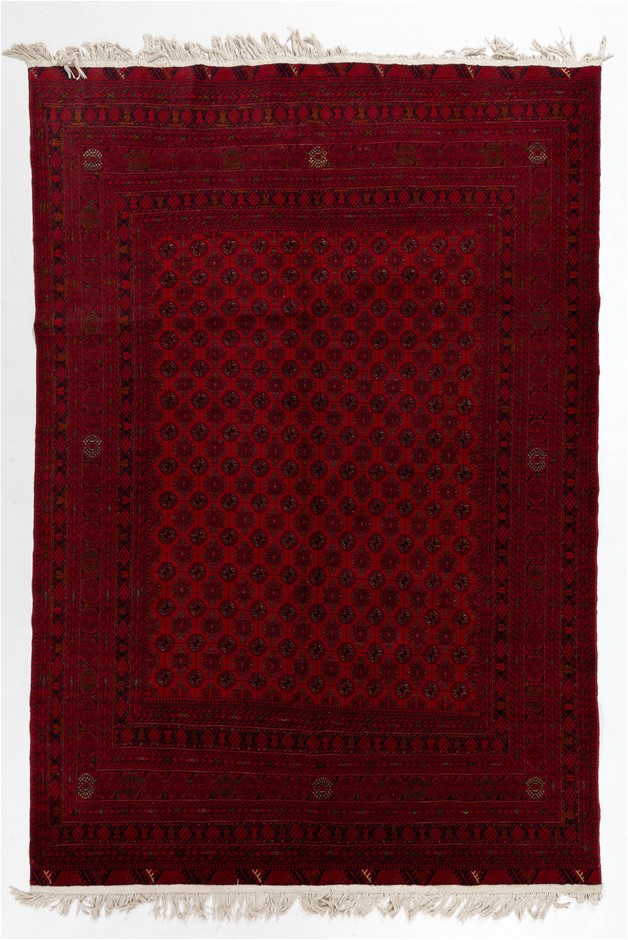 Afghan Mori Gul Fine Quality Hand Knotted Rug Size (cm): 193 x 282