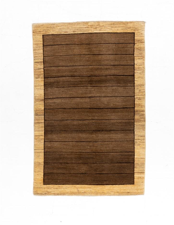 Afghan Gabbeh Stripy Modern Design Rug Size (cm): 110 x 160