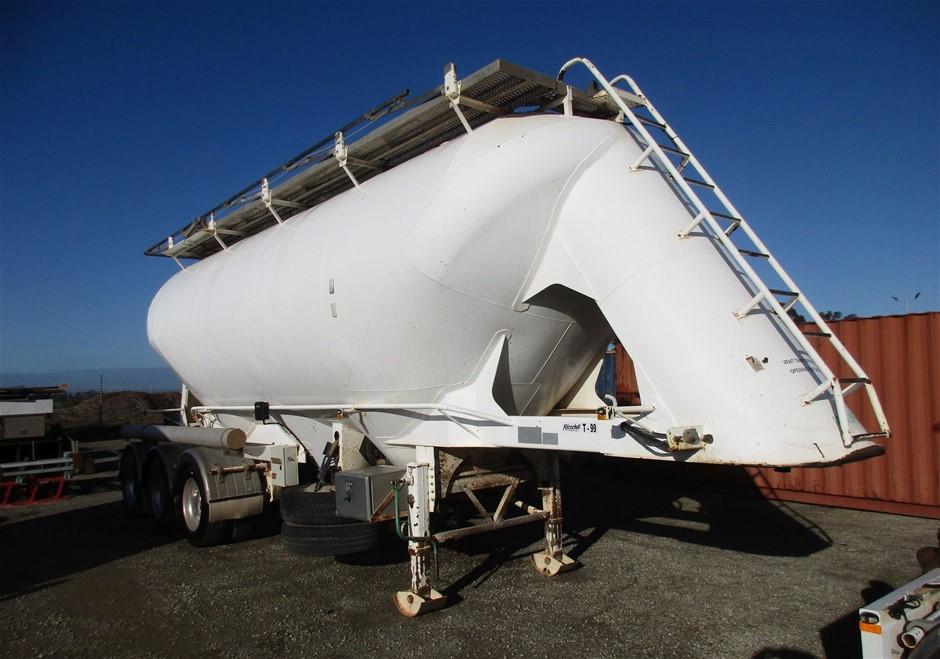 2007 Marshall Lethlean Bulk Tanker 34 m3 Triaxle Pneumatic Tanker Trailer
