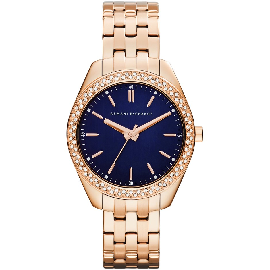 Gorgeous new Armani Exchange rose gold plated ladies watch.