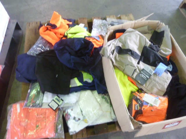 Pallet PPE clothing and more, some with company logo (Pooraka, SA)