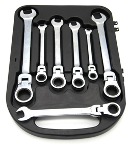 7 Piece Carve Flexi-Head Ratchet Wrench