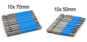 10 x 50mm & 70 mm PH2 Impact Quick Chang