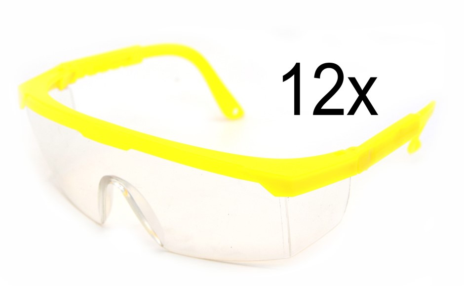 12 x Full Frame Protective Eyewear - Safety Glasses