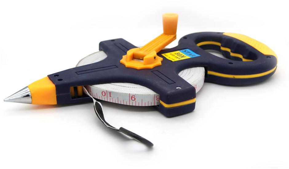 50 metre Surveyors Long Distance Measuring Tape Fiberglass