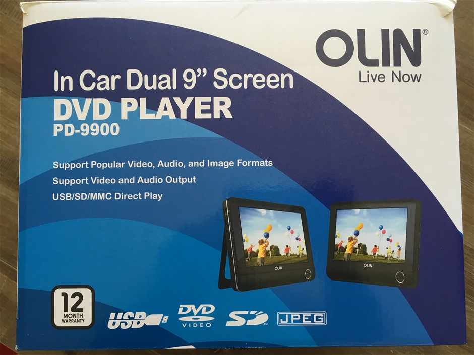 In Car Dual 9 Inch Screen DVD Player