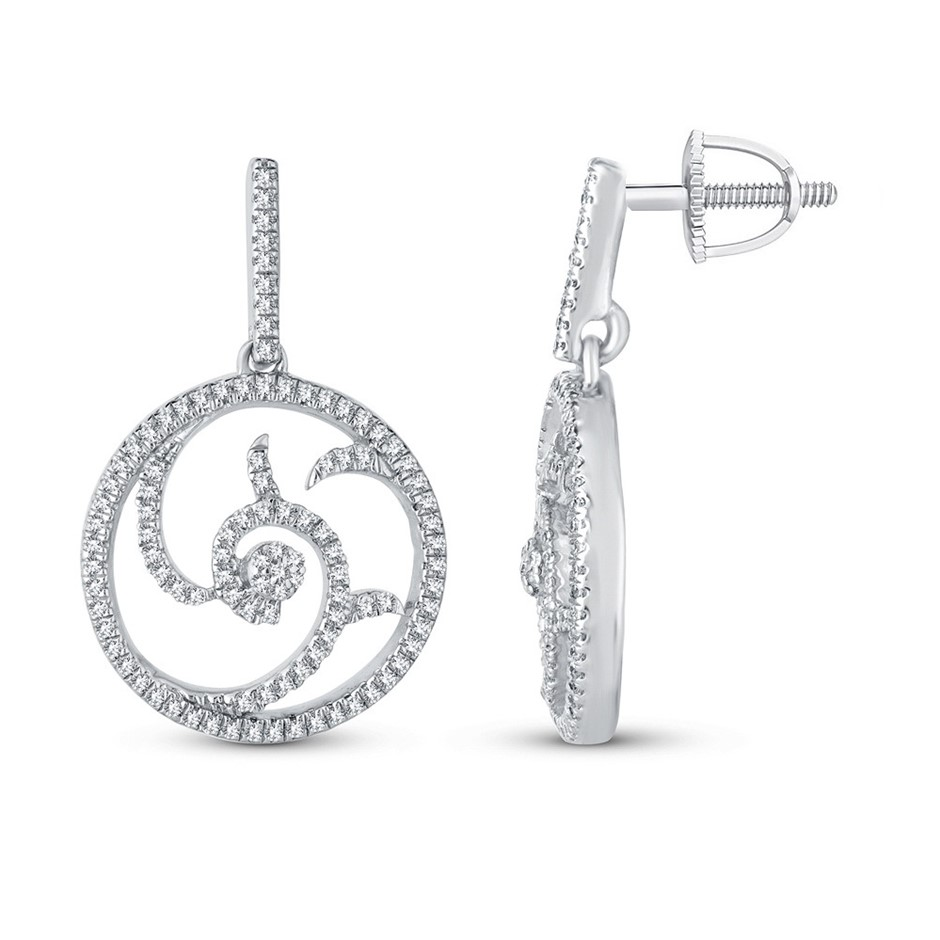 9ct White Gold, 0.41ct Diamond Earring