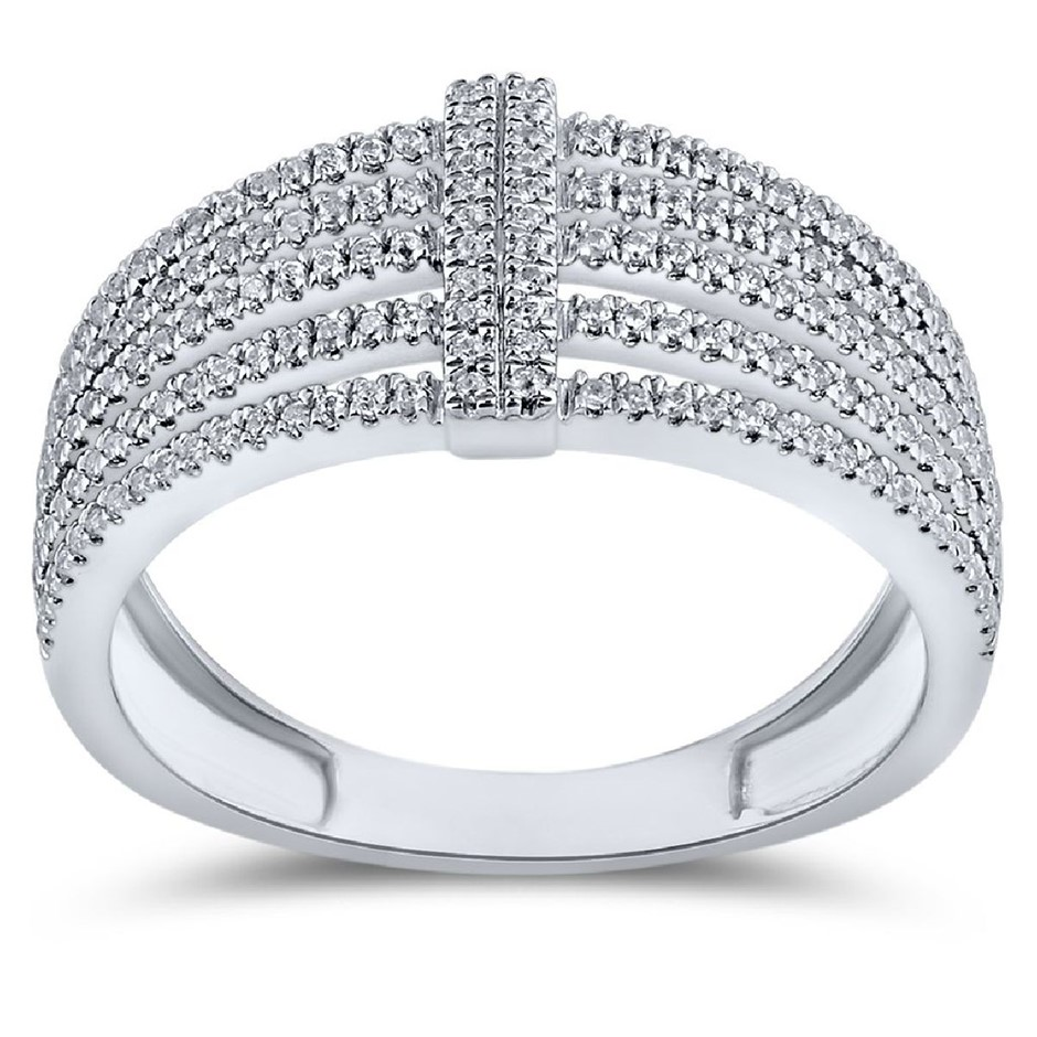 9ct White Gold, 0.28ct Diamond Ring