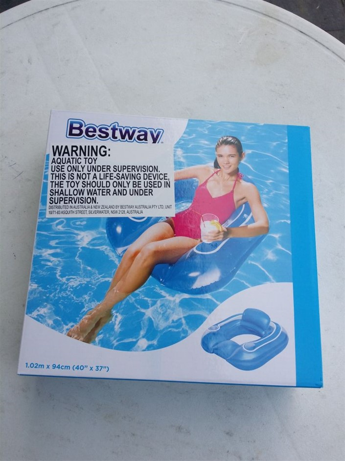 Bestway Inflated Flip-Pillow Pool Lounge