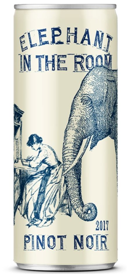 Elephant in the Room Pinot Noir 2018 (24 x 250mL Cans), SA.