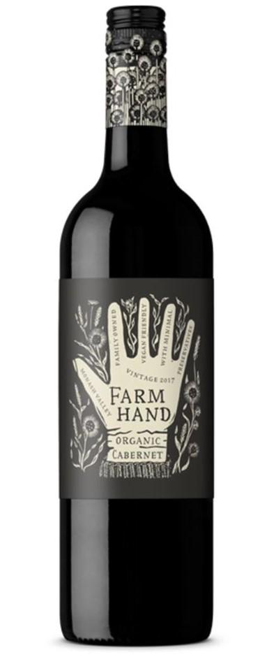 Farm Hand Organic Cabernet Sauvignon 2019 (6 x 750mL), SA.