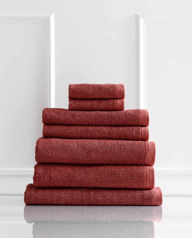 Style & Co Resort 600 GSM Egyptian Cotton 7 Piece Towel Pack - Marsala
