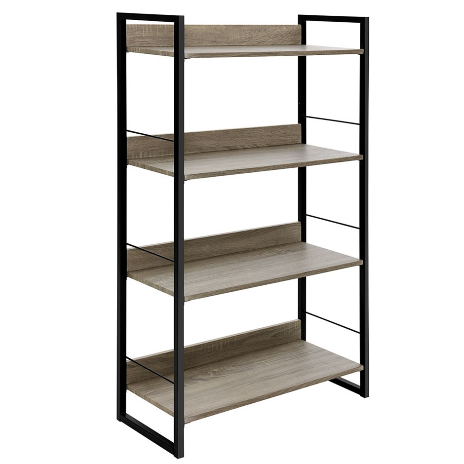 Artiss Book Shelf Display Shelves Corner Wall Wood Metal Stand Hollow