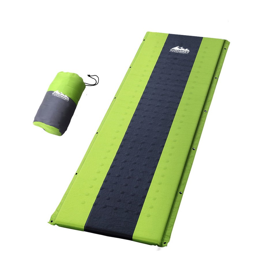 Weisshorn Self Inflating Mattress Sleeping Mat Air Bed Pad Single Green