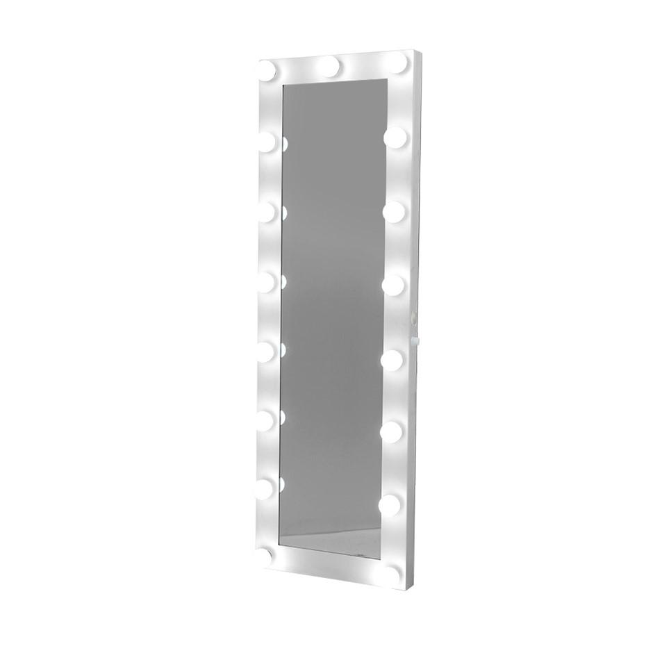 Embellir Full Length Mirror Floor Standing Makeup Wall 1.6M Light Bulbs