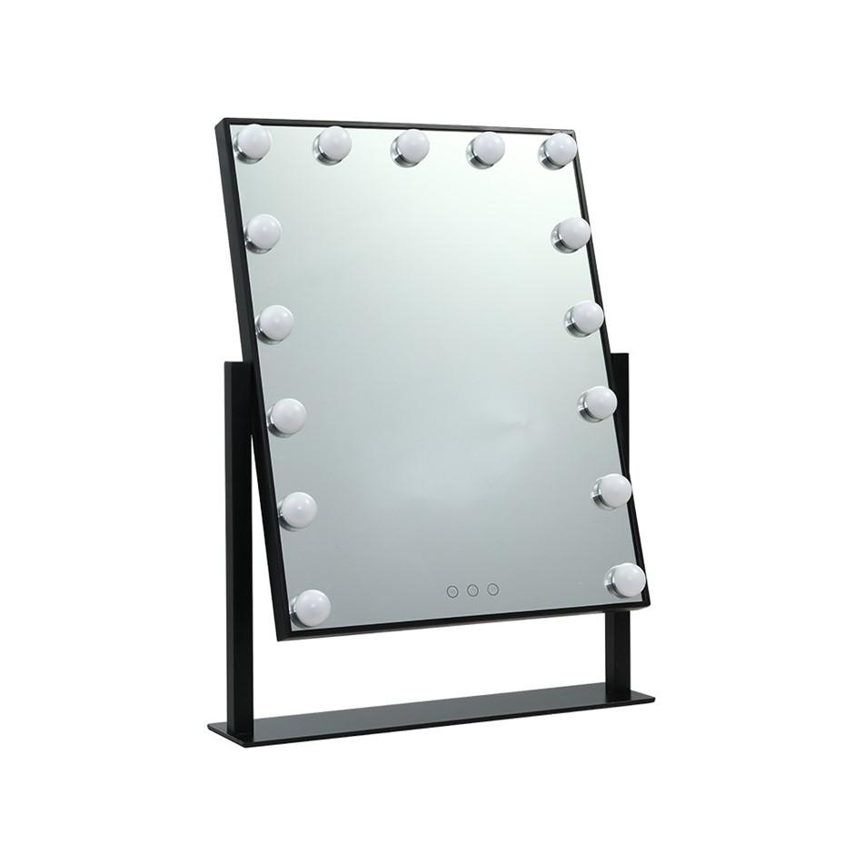 Embellir Hollywood Makeup Mirror Standing Tabletop Vanity 15 LED Bulbs