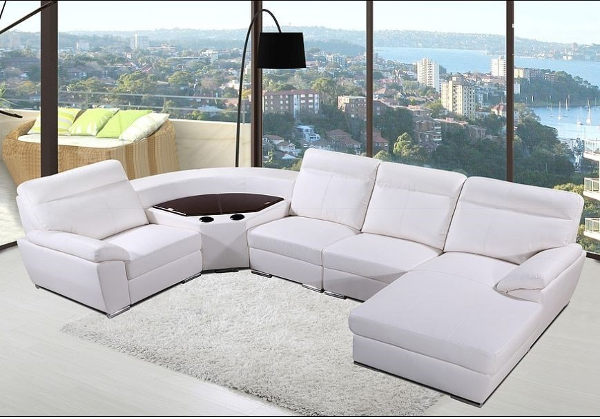 Bern - Comfort Corner Lounge with chaise and storage, White