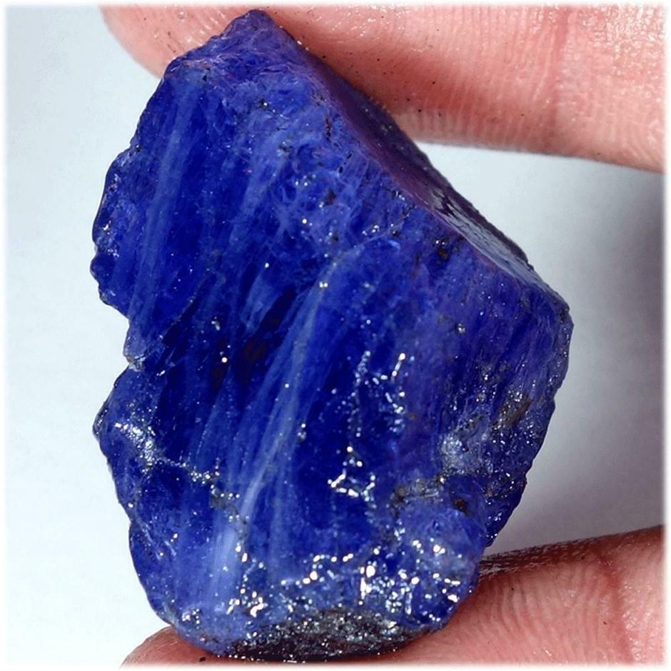 103.1Ct AA Royal Blue Tanzanite Rough Excellent Loose Gemstones