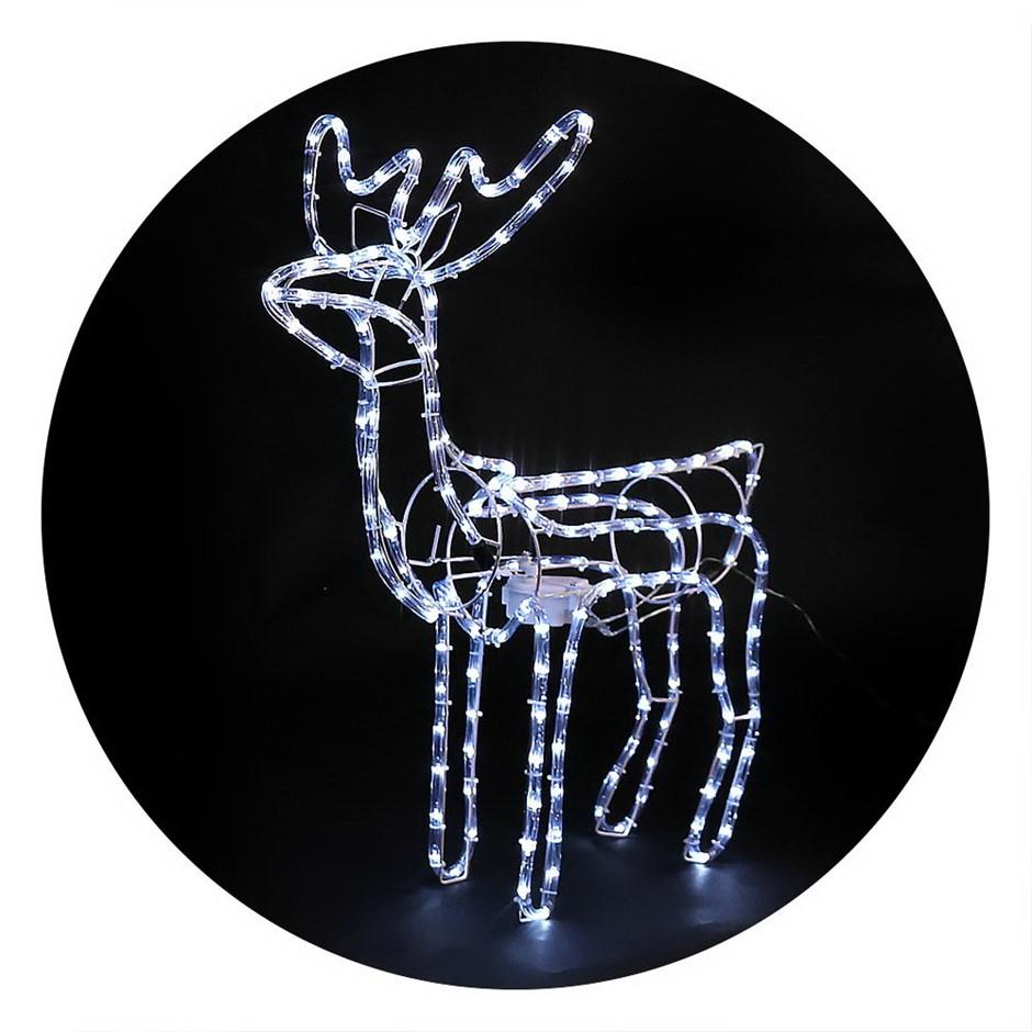 Jingle Jollys Christmas Reindeer LED Motif Lights Cold White