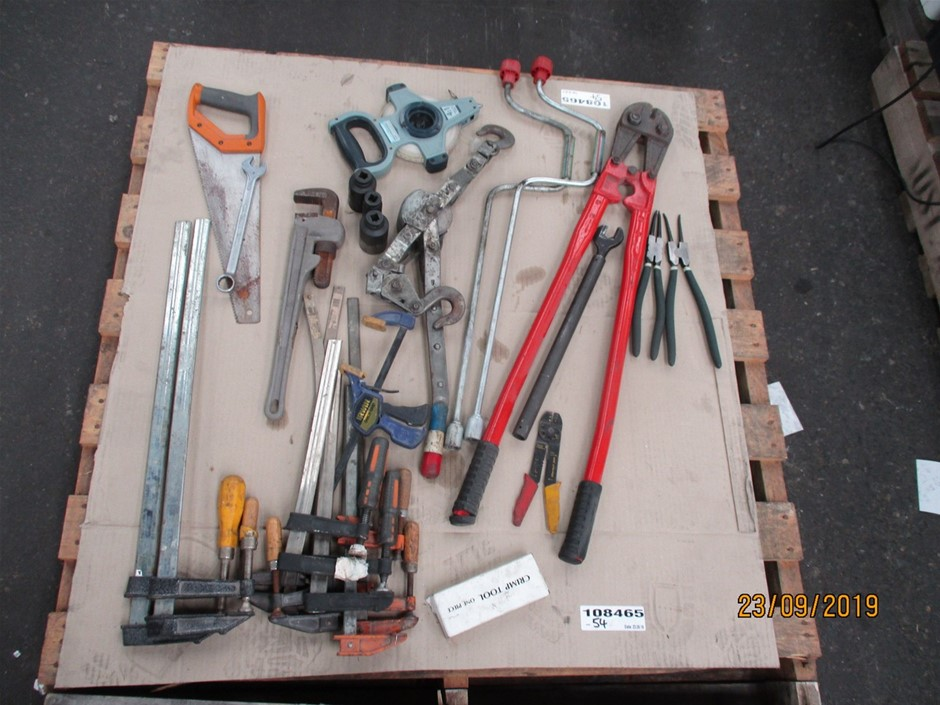 Pallet of Assorted Hand Tools