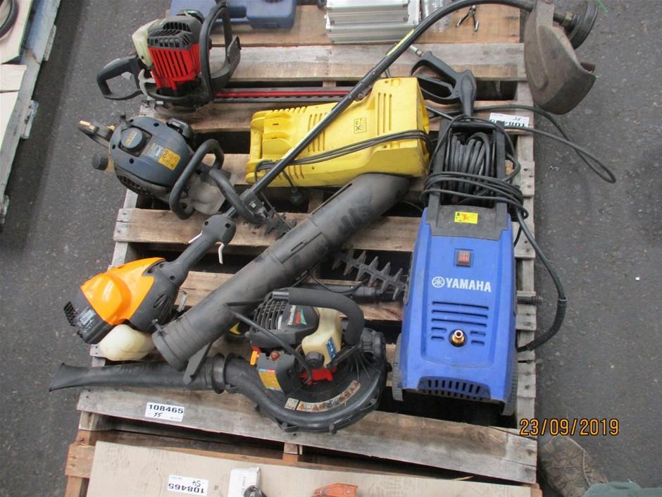 Pallet of Garden Equipment
