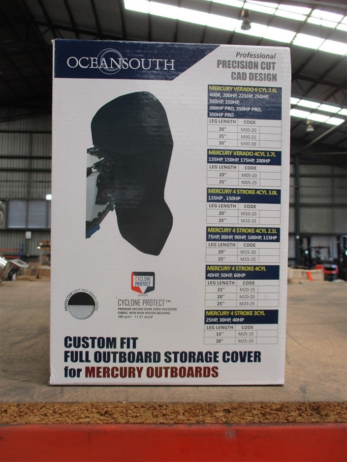 Qty 2 x Outboard Engine Storage Cover (Mercury)