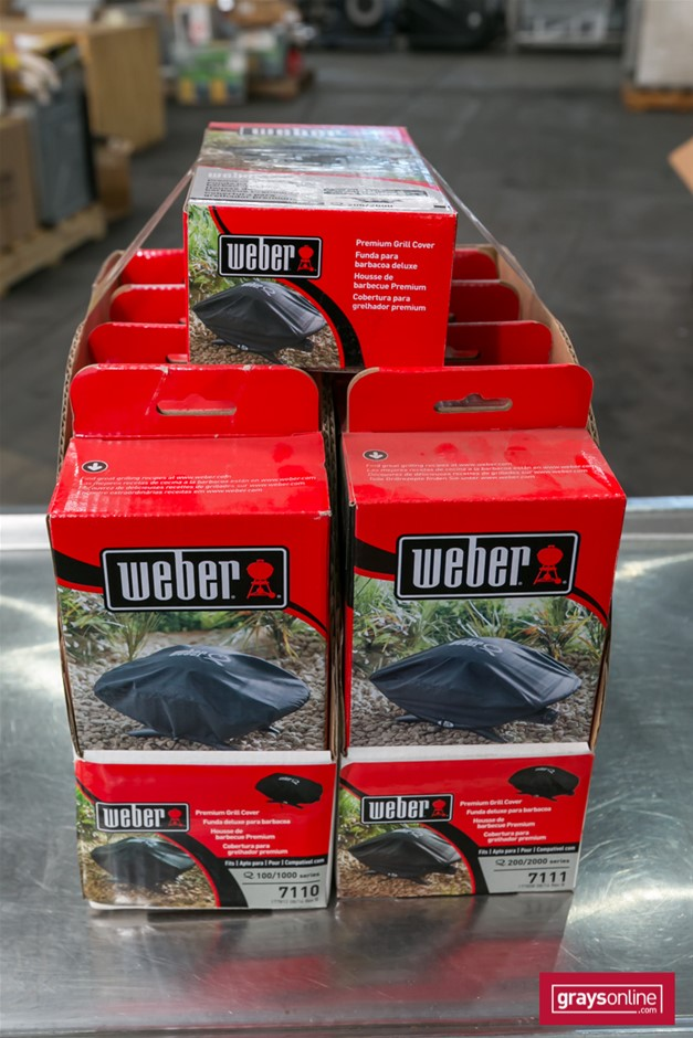9 x Grill Covers - Weber Brand