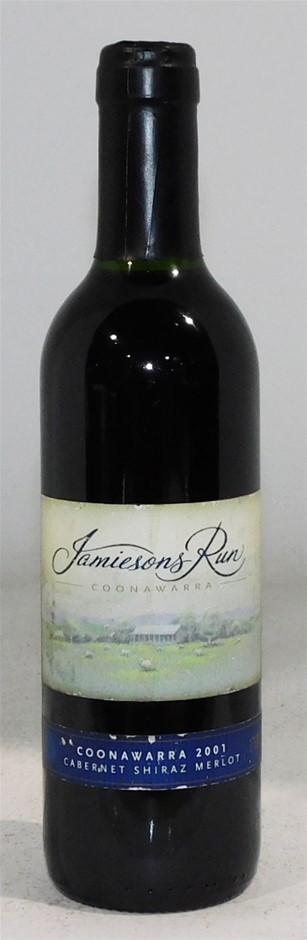 Jamiesons Run `` Cab/Shiraz/Merlot 2001 (1x 375mL), Coonawarra. Cork