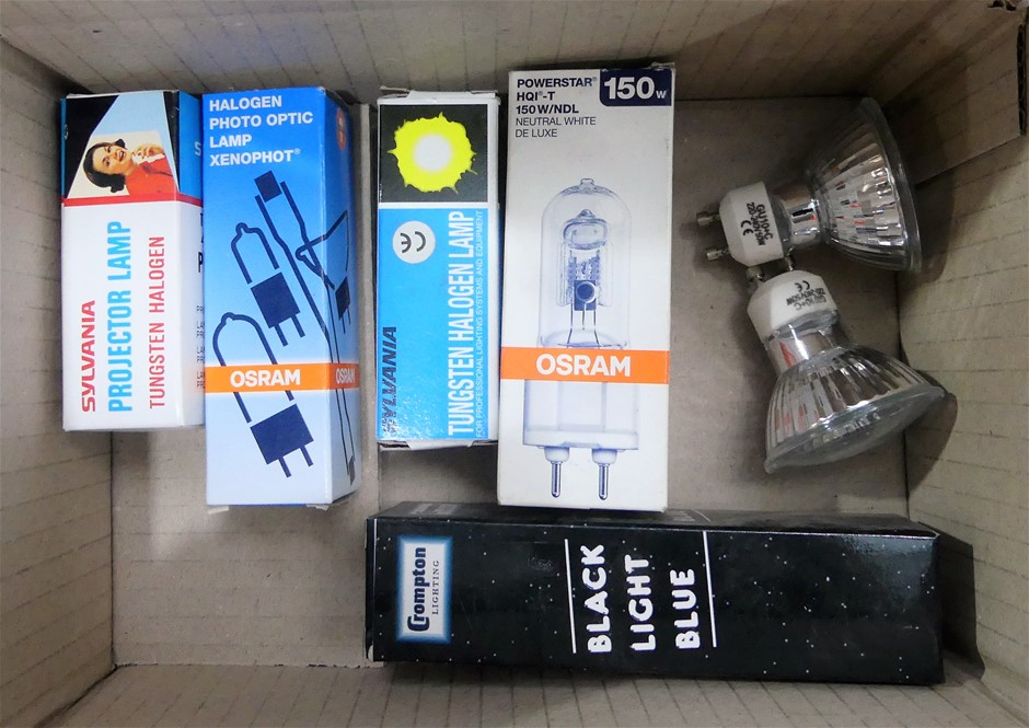 Box of assorted track lights