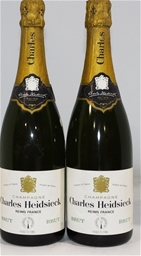 Charles Heidsieck Reims NV (2x 750ml), Champagne. Cork closure.