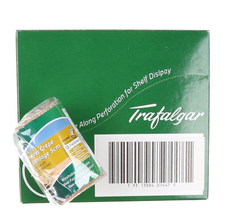 12 x Heavy Crepe Bandages W5CM Buyers Note - Discount Freight Rates Apply t